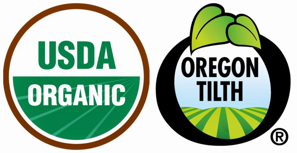 USDA and Oregon Tilth Organic